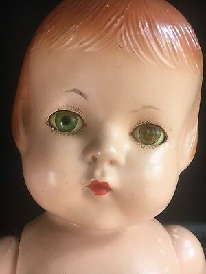 "Patsy Lou Family 22"" Large Compositon Doll by Effanbee F&B Green Eyes Vintage"