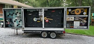 Display trailer. Folds out on both sides