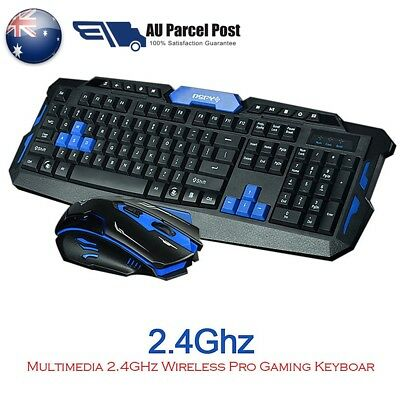 2.4Ghz Gaming Wireless Keyboard Nano+ Mouse Kits For Computer Gamer Multimedia