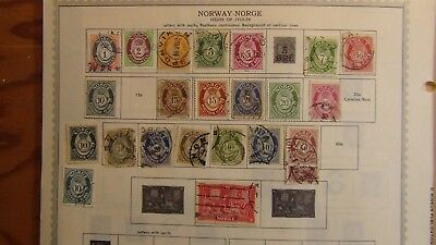 Norway Stamp collection on Minkus pages to '96 or so
