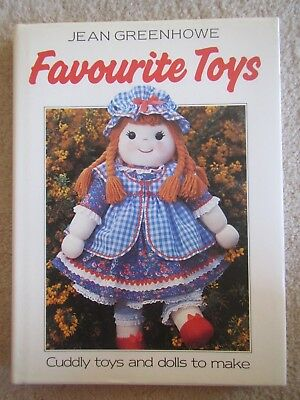 Jean Greenhowe Favourite Toys (Hard Cover) Cuddly Dolls and Toys to Make