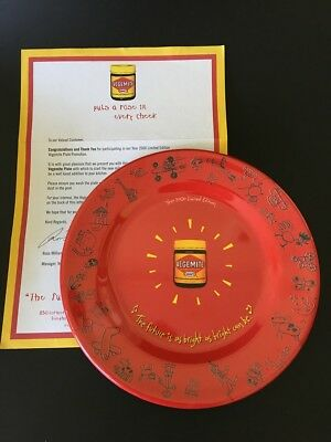 Vegemite Plate - 2000 - Limited Edition with Original Letter