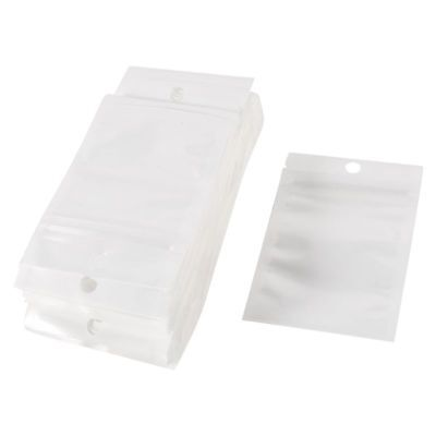 100 Pcs White Clear Ziplock Self Sealing Seal Bag 7cmx10cm for Mobile Spare S5D6