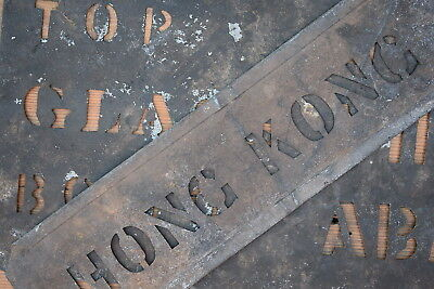 Vintage Industrial: Old Zinc Stencils reclaimed signs antique letters