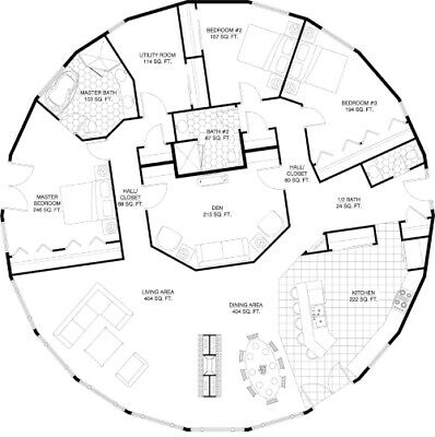 House plan - 2,420SF - PDF  blueprint