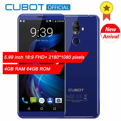 """5.99"""" 18:9 Cubot X18 Plus 4G Smartphone FHD 2160*1080 Android 8.0 8*Core 4+64GB"""