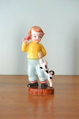 Vintage ceramic boy  50s  pepper shakers Japan kitsch mid century figurine