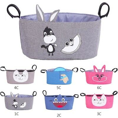 Baby Cute Animal Stroller Pram Pushchair Hanging Organizer  Diaper Storage Bag