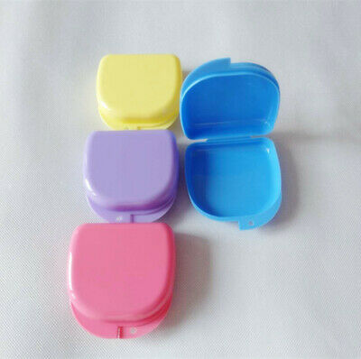 5 Orthodontic Mouth Guard Denture Retainer Box Dental Storage Container Portable