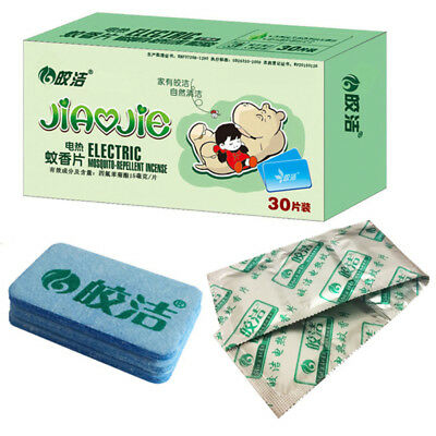 Raid Mosquito Tiger Repellent Insect Bite Mat Tablet Refill 30 Tablets Safe