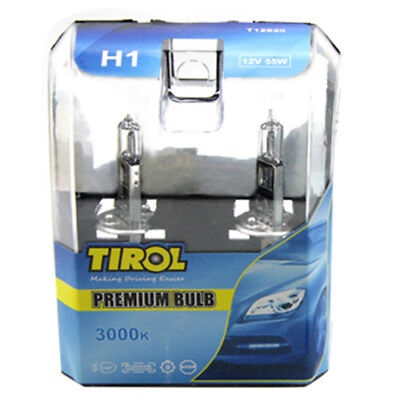 TIROL 2x H1 Car Light bulb 12V 55W 3000K Super White Car Styling Accessorie X9O4