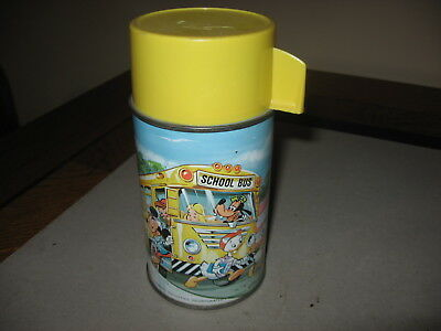 Disney Characters Original Thermos Bottle For Vintage School Bus Lunch Box