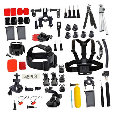 53Pcs Accessories Kit For GoPro Hero 3 3+ 4 5 6 SJCAM Head Chest Strap Pole