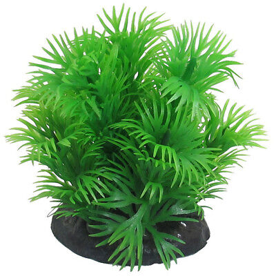 Aquarium Artificial Plastic Grass Aquatic Plant Aquarium Plant Green 8cm K4T9