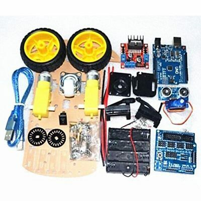 Smart Car Tracking Motor 2WD Kit Ultrasonic HC-SR04 Sensor for Arduino DIY D8G5