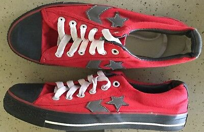 Converse All Star Chuck Taylor Red Canvas  Sneakers Shoes Eu 41 Women 9 Mens 7.5