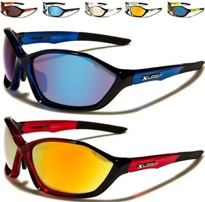 aa2ed1d2dc1 Sports X-Loop Sunglasses Big Wrap Mirrored Golf Running Cycling Big Mens  Ladies