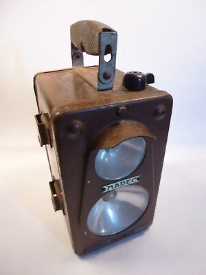 Madec - French SNCF Railway Lamp -  1950s