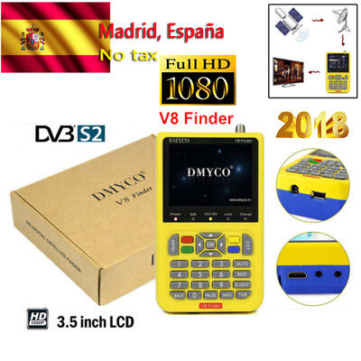 Buscador V8 Finder FTA HD 1080P DVB-S/S2 Digital Satellite Finder Meter MPEG-4