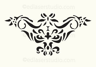 Floral Stencil Vintage French Template Paint Furniture Card making Crafts FL49