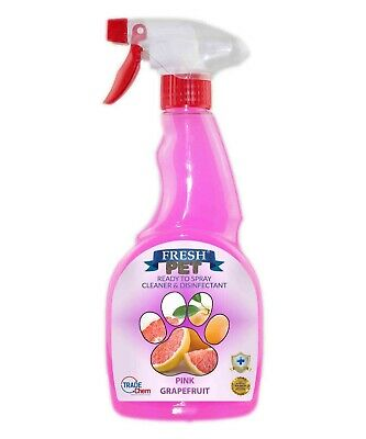 Fresh Pet Small Pet Cage Ready2Spray Cleaner Disinfectant 500ml Pink Grapefruit