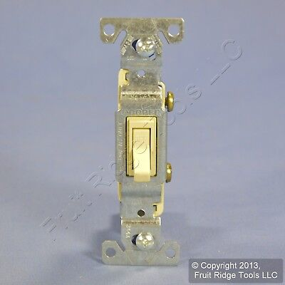 Cooper Ivory Quiet Toggle ON/OFF Light Switch Single Pole 15A 120V Bulk 1301V