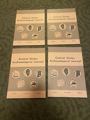 Central States Archaelogical Journal Set Of Three 1962 Edition