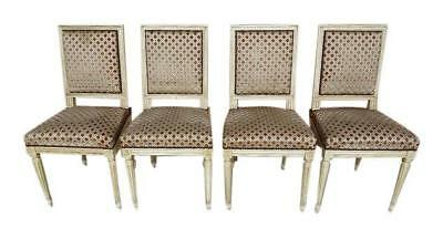 Set of 4 Antique French Regency Louis XVI Dining Chairs
