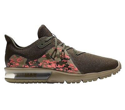 7f85295c Nike Air Max Sequent 3 Digi Camo Mens AJ0004-201 Olive Running Shoes Size 15