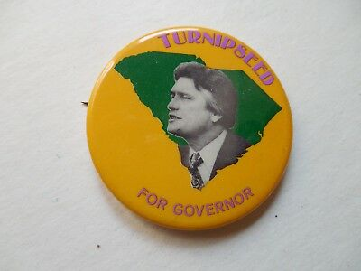 South Carolina Governor Pin Back Local Campaign Button Tom Turnipseed Political