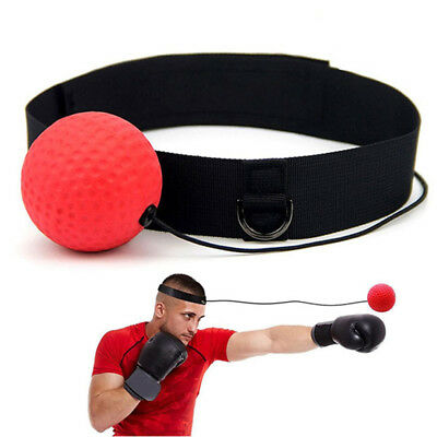 Gym Boxing Fight Ball with Head Band for Reflex Speed Boxer Training Punch UK