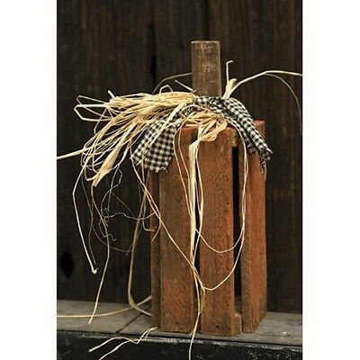 NEW Primitive Wood Lath Orange Pumpkin Crate ~ Autumn/Fall/Halloween