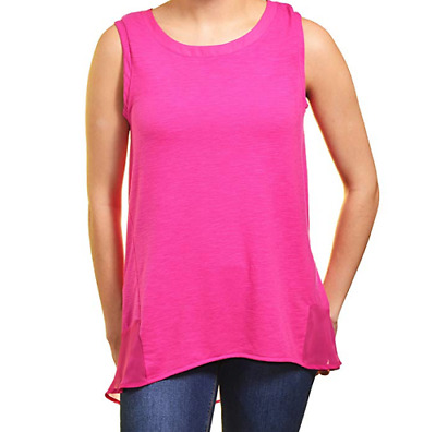 Adrienne Vittadini Ladies' High-Low Sleeveless Top, Hot Pink CHECK FOR SIZE
