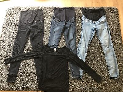 H&M Maternity Jeans and Top Bundle Used Size S