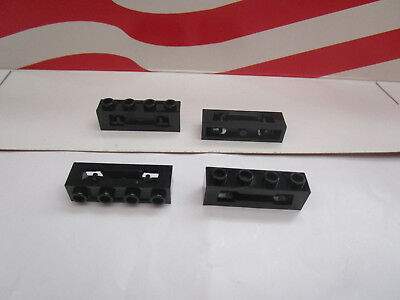 LEGO STAR WARS,CITY (4) BRICK MODIFIED 1x4 DISK SHOOTER PART #16968 BLACK