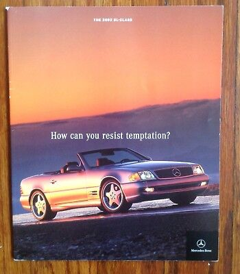 2002 Mercedes Benz R129 SL Class Dealer Sales Brochure SL500 SL600 Silver Arrow