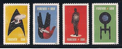 STAR TREK - 50th ANNIVERSARY - SET OF 4 U.S. POSTAGE STAMPS - MINT CONDITION