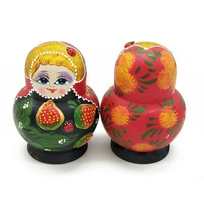 5Pcs Nesting Dolls Strawberry Adorable Russian Stacking Dolls Collection Toy New