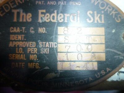 Aircraft Skis Airplane Ice Skis Very Rare J3 Cub / Others .man Cave At The Least