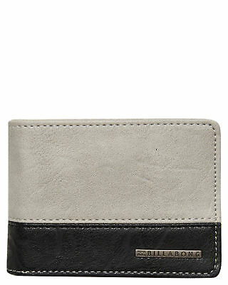 New Billabong Men's Dimension Wallet Pu Grey