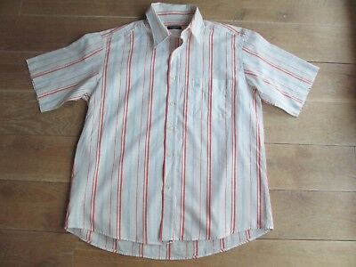 448a30c3a305 Superbe CHEMISE Rayée BURBERRY Manches Courtes Taille XL