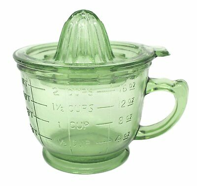 Measuring Cup Juicer Green Reproduction Depression Glass Lemon Lime Reamer #505G