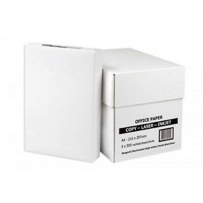 Genuine A4 White Paper 80Gsm Printer Copier | 1 2 3 4 5 Reams Of 500 Sheets