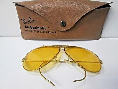 bcd48cbc8d ... clearance vintage bausch lomb ray ban gold filled bullet shooter  aviator sunglasses 4d716 1c6b1