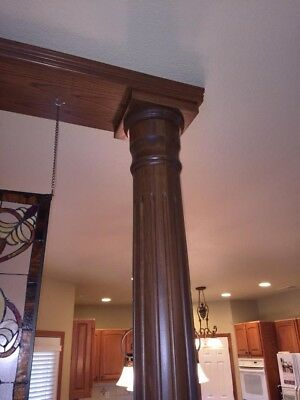 Wood columns with cherry stain