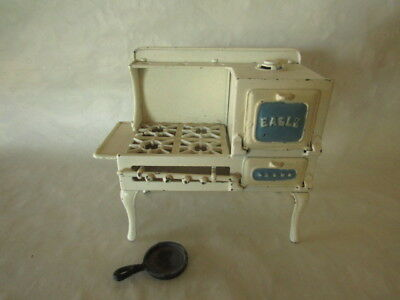 Vintage Hubley Cast Iron Toy Cook Stove High Legs c.1920's