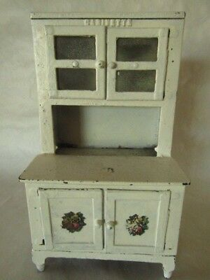 Vintage Hubley Cast Iron Toy Kitchen Cabinet Cabinette c.1920's