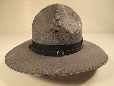 """New Genuine Milan """"The Lawman"""" Straw Style Trooper Hat - Gray"""