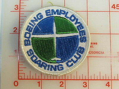 Boeing Employees Soaring Club collectible patch (gA)