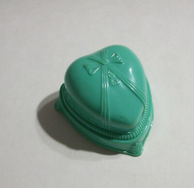 Vintage 40s 50s Plastic Heart Art Deco Ring Box Valentines Day Engagement